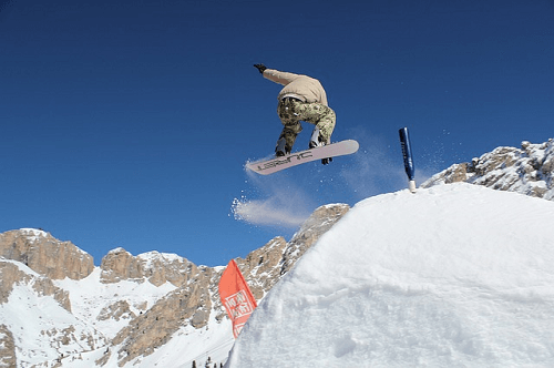 Snowboarding betting feature